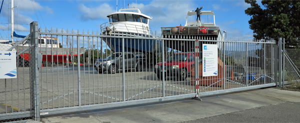 Seaview Marina heavy vehicle access gate