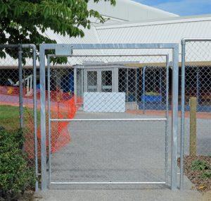 Swimming pool exit gate