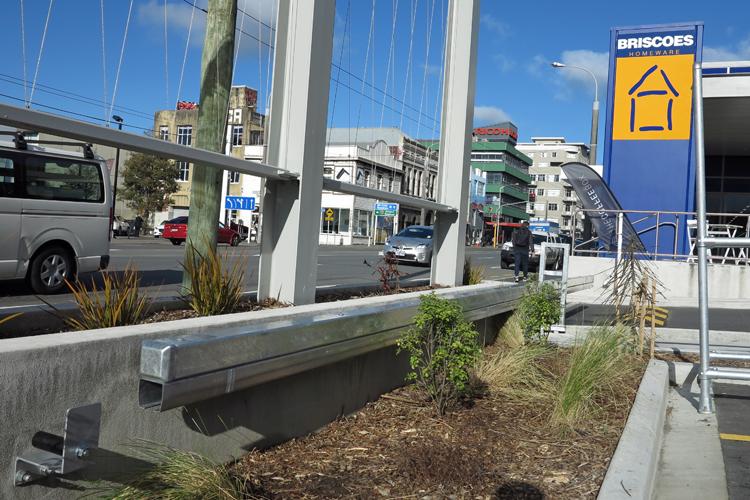 Briscoes Taranaki Street car park barrier