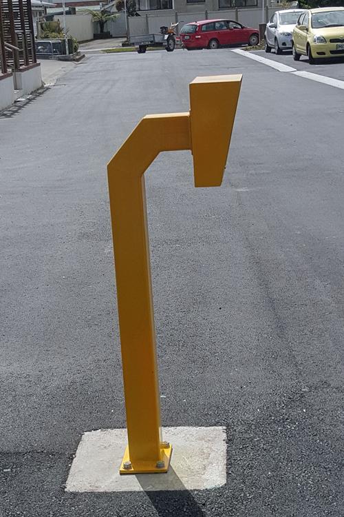 Swipe post for sliding gate