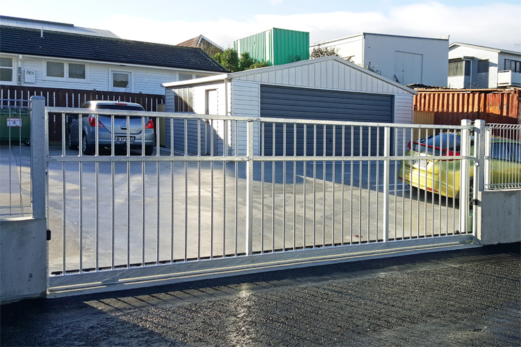Sliding gate industrial compound