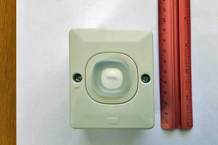 Outdoor weatherproof external gate release button