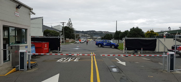 Automatic Boom Gates closed