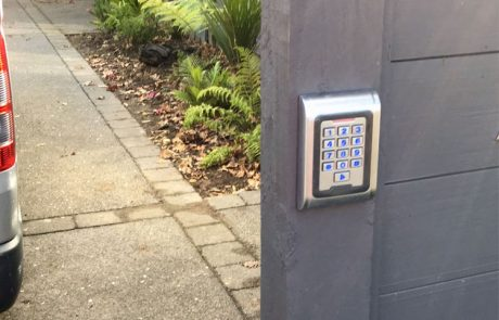 automatic gate keypad