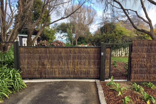 Brush-clad-sliding-gate