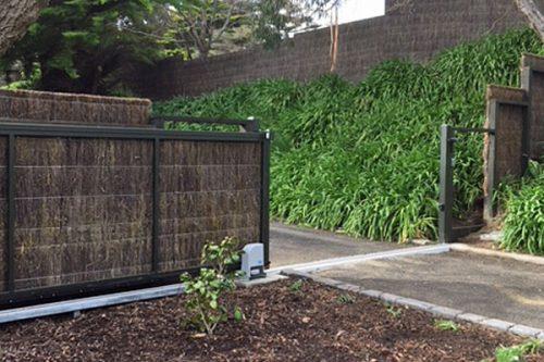 Brush-sliding-gate-open
