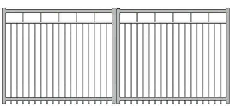 Aluminium swing gate SW-UDG-01