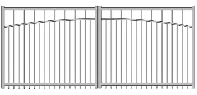 Aluminium swing gate SW-UDG-02
