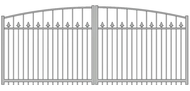 Aluminium swing gate SW-UDG-03