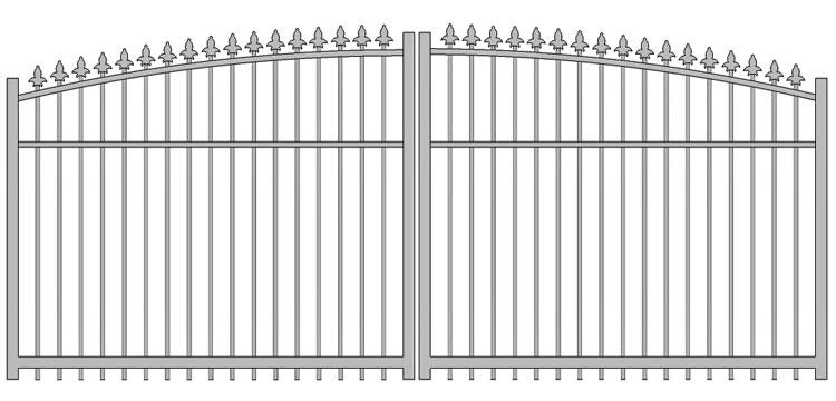 Aluminium swing gate SW-UDG-04