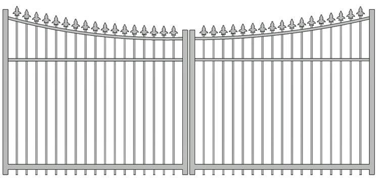 Aluminium swing gate SW-UDG-05