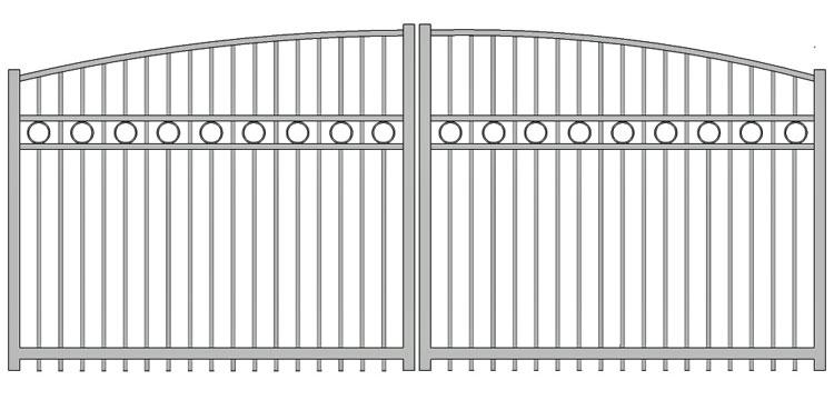 Aluminium swing gate SW-UDG-06