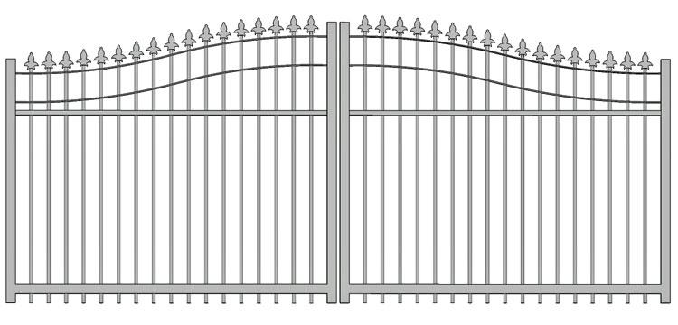 Aluminium swing gate SW-UDG-07