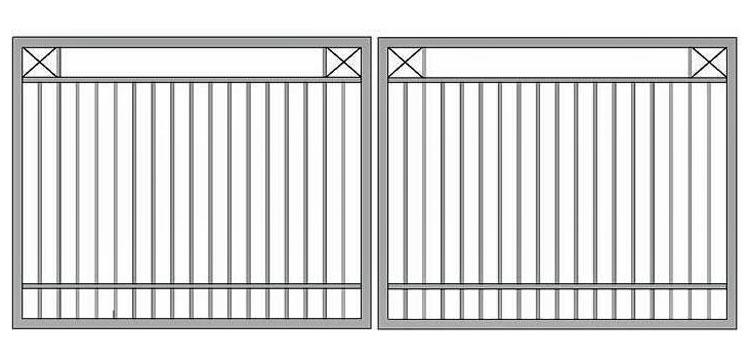 Aluminium swing gate SW-UDG-08