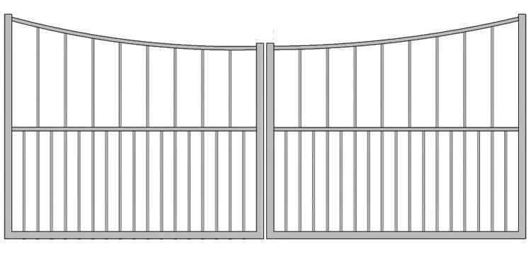 Aluminium swing gate SW-UDG-09