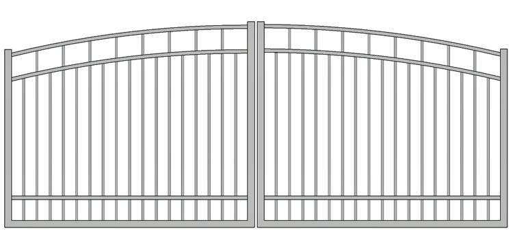 Aluminium swing gate SW-UDG-10