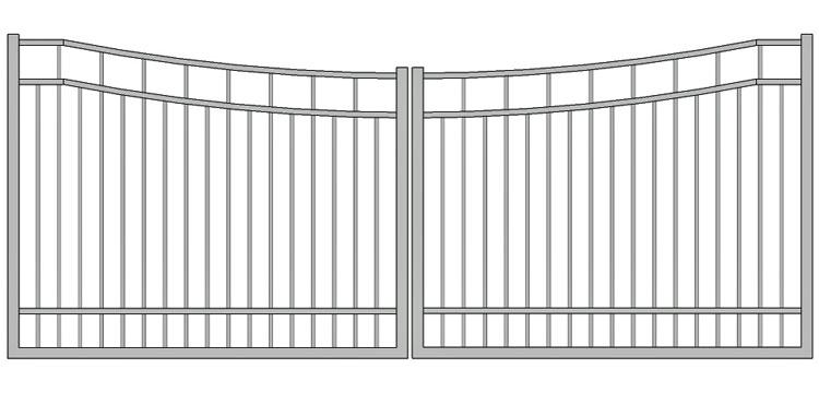 Aluminium swing gate SW-UDG-11