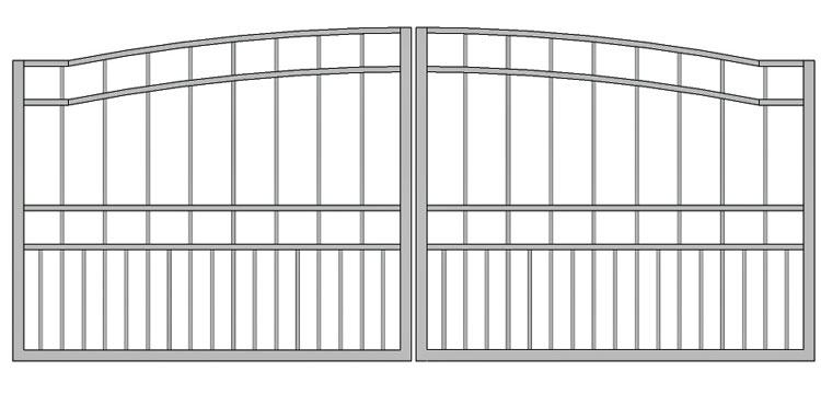 Aluminium swing gate SW-UDG-12