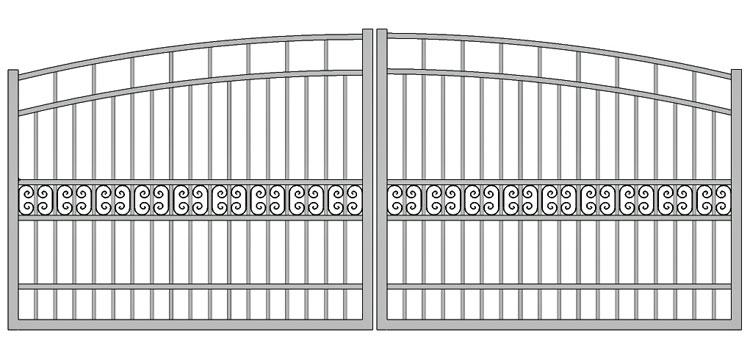 Aluminium swing gate SW-UDG-13