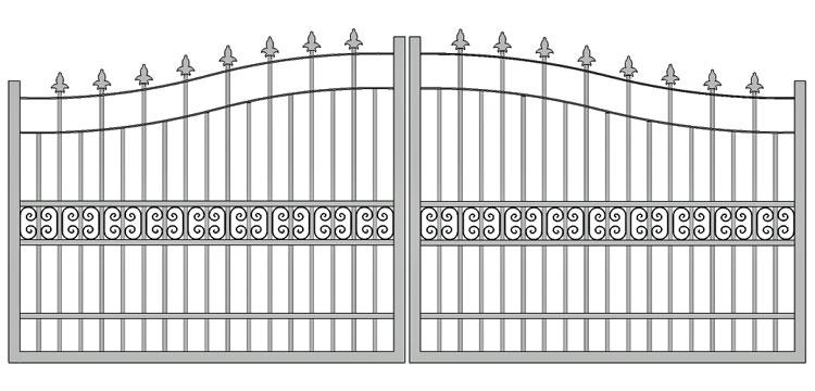 Aluminium swing gate SW-UDG-14